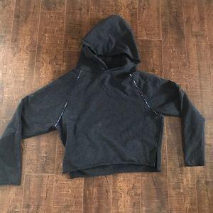 Charcoal grey cropped size 6 lululemon hoodie